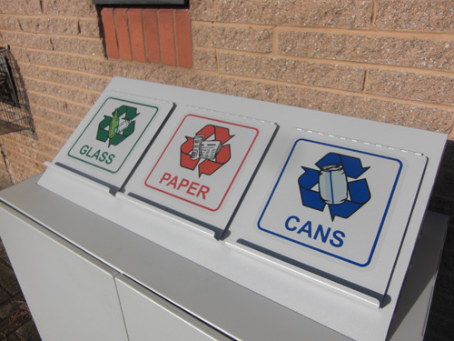 Styled bespoke recycling litter bins manufacture