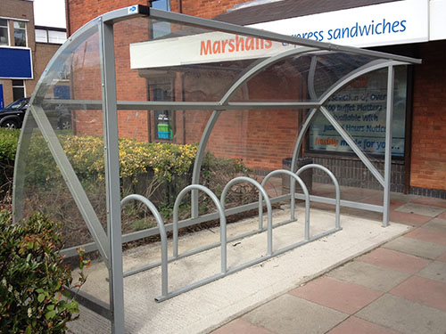 image showing alnwick cycle shelter