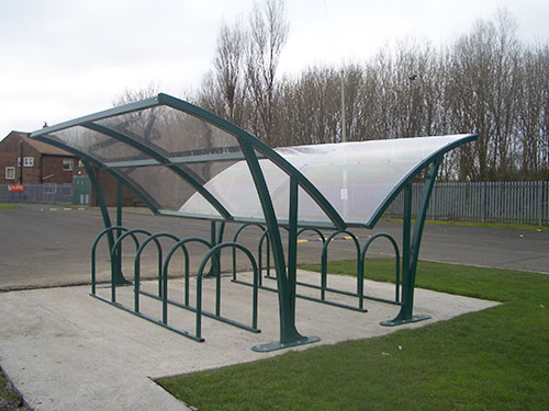 featured image of corbridge cycle shelter