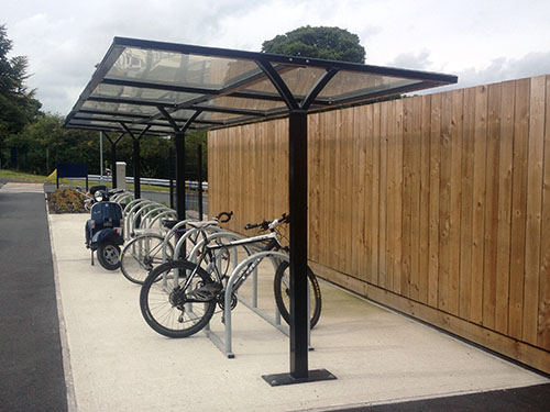 image showing a cycle shelter