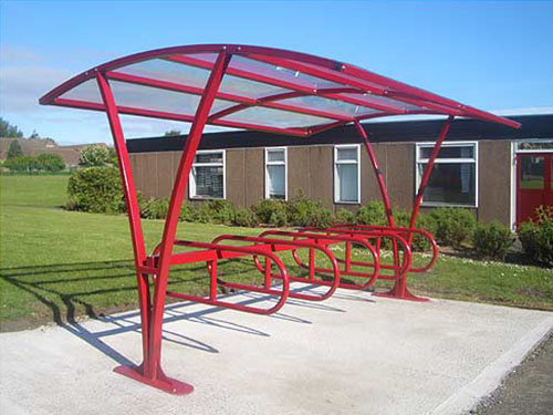 featured image showing durham cycle shelter