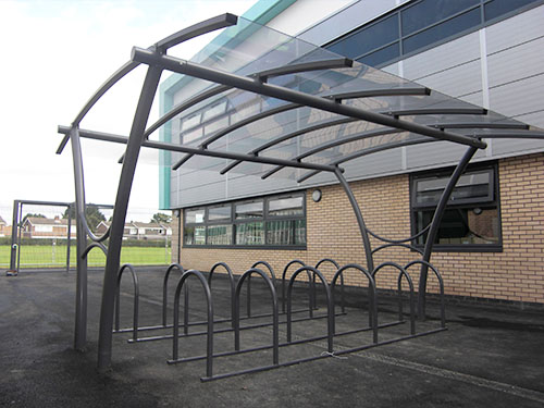 display image showing elswick cycle shelter
