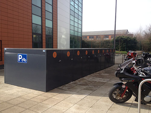 image of flat roof cycle lockers