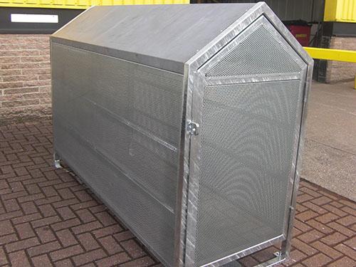 image of horizontal cycle locker