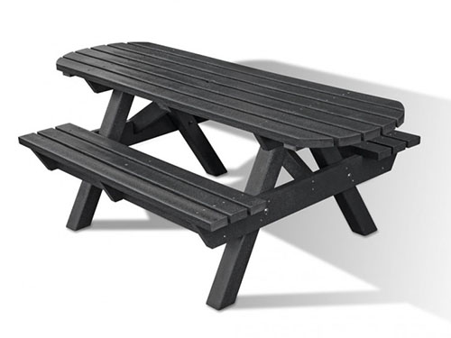 Recycled Plastic Picnic Table – Extended Top