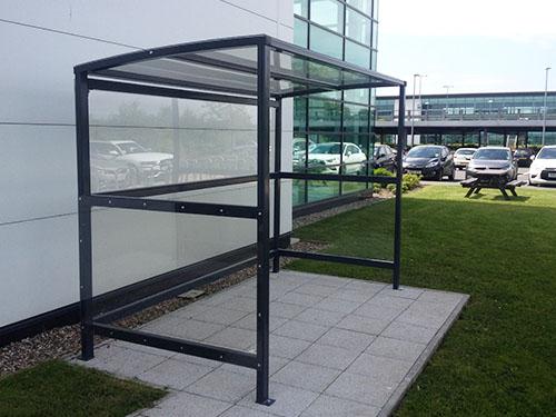 image of standard smoking shelter