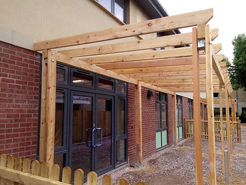 Image of Timber Covered Walkway